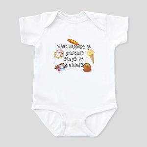 15436b68 Baby. What Happens at Grandad's... Infant Bodysuit