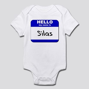 hello my name is silas  Infant Bodysuit