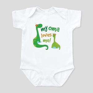 785731230 My Oma Loves Me Dinosaur Infant Bodysuit