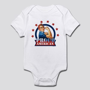 Rosie Riveter Proud American Infant Bodysuit