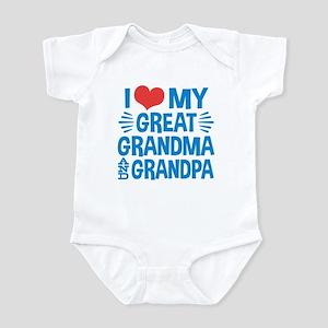 ac8ebedcc I Love My Great Grandma and Gr Baby Light Bodysuit