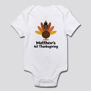 d2249f2a8fc5 1st Thanksgiving Personalized turkey Body Suit