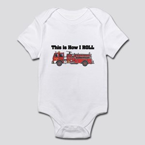 How I Roll (Fire Engine/Truck) Infant Bodysuit