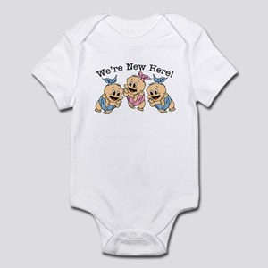 We're NEW Here! Cute Triplets Baby/Toddler Bodysui