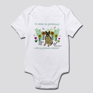 german shepherd Infant Bodysuit