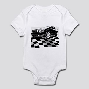 2011 Mustang Flag Infant Bodysuit