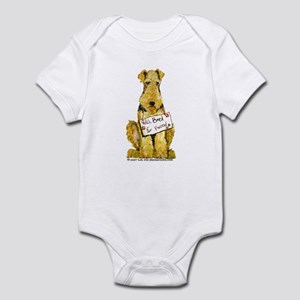 Airedale Terrier Bark for Food Infant Bodysuit