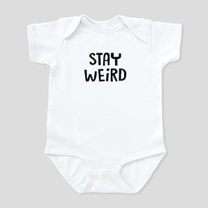 Stay Weird Baby Light Bodysuit