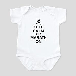 Keep calm and Marathon Infant Bodysuit