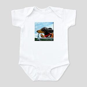 Dachshund Takes the Wheel Infant Bodysuit