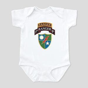 1st Ranger Bn with Ranger Tab Infant Bodysuit