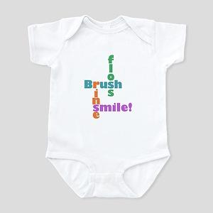 Brush Floss Rinse Smile Infant Bodysuit