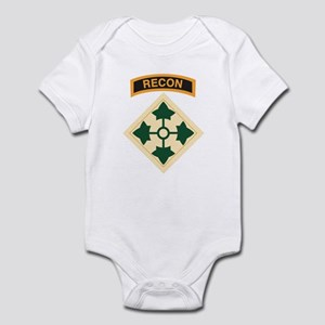 4th Infantry Div with Recon T Infant Bodysuit