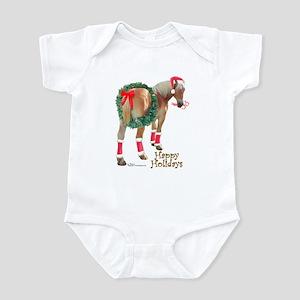 Christmas Draft Horse Belgian Infant Bodysuit