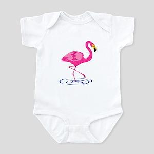 Pink Flamingo on One Leg Infant Bodysuit