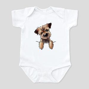 Pocket Border Terrier Infant Bodysuit