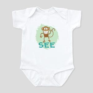 Monkey See (green) Infant Bodysuit