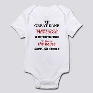 Great Dane Walking Answers Infant Bodysuit