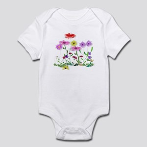 Flower Bunch Baby Light Bodysuit