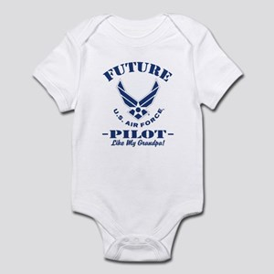 Future Air force Pilot Like My Baby Light Bodysuit