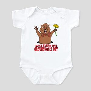 Cartoon Groundhog Infant Bodysuit