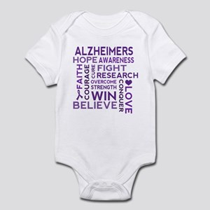 Alzheimers Support Word Cloud Body Suit