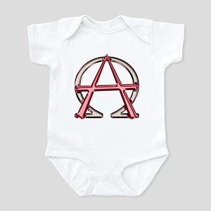 Alpha & Omega Anarchy Symbol Infant Bodysuit
