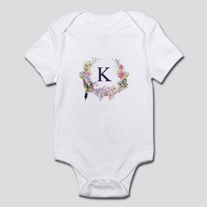 Hummingbird Floral Wreath Monogram Body Suit