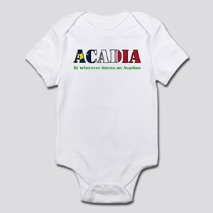 Acadia is where LARGE Infant Bodysuit