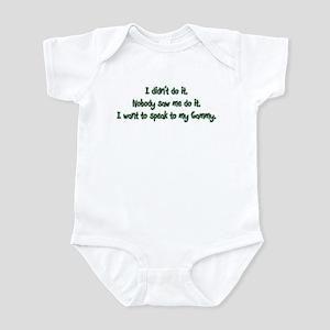 Want to Speak to Gammy Infant Bodysuit
