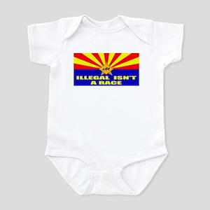 Illegal Isn't A Race Infant Bodysuit