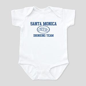 SANTA MONICA drinking team Infant Bodysuit
