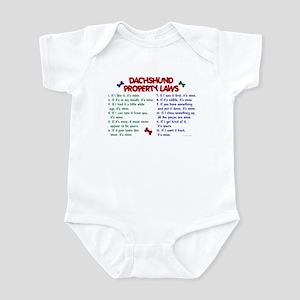 Dachshund Property Laws 2 Infant Bodysuit