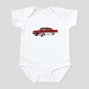 1958 Ford Fairlane 500 Red & White Infant Bodysuit