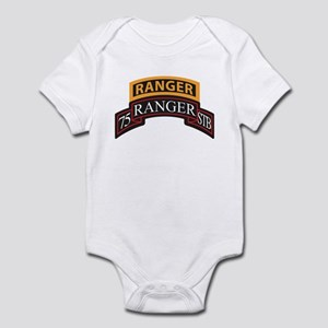 75 Ranger STB scroll with Ran Infant Bodysuit