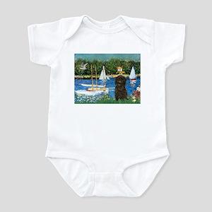 Sailboats / Affenpinscher Infant Bodysuit