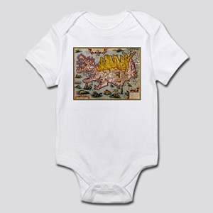 """Iceland Map"" Infant Bodysuit"