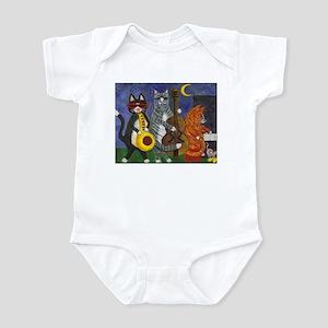 Jazz Cats at Night Infant Bodysuit