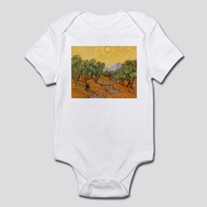 Van Gogh Olive Trees Yellow Sky And Sun Infant Bod