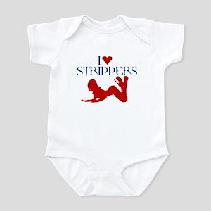 I LOVE STIPPERS SHIRT dancer, Infant Bodysuit