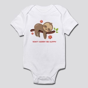 Don't Hurry Sloth Baby Light Bodysuit