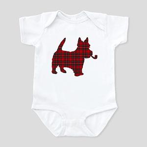 Scottish Terrier Tartan Infant Bodysuit