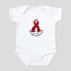 Flower Ribbon HIV AIDS Infant Bodysuit