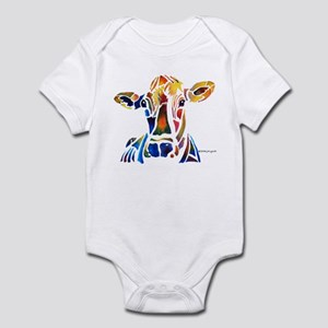 Whimzical Original Cow Art Infant Creeper