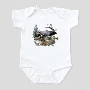 Buck deer bull elk Infant Bodysuit