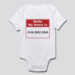 Custom Name Tag Infant Bodysuit
