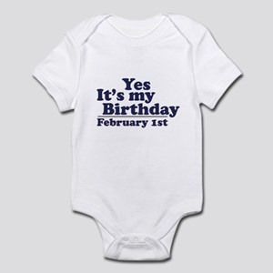 February 1st Birthday Infant Bodysuit