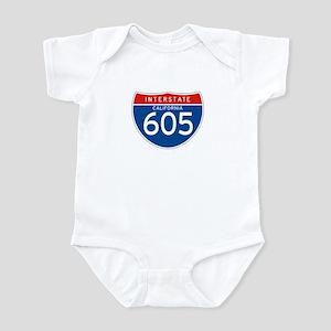 Interstate 605 - CA Infant Bodysuit