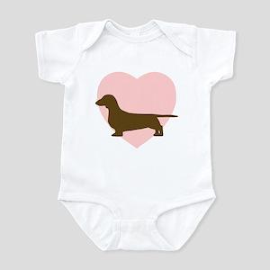 Dachshund Heart Infant Bodysuit