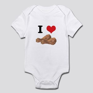 I Heart (Love) Chicken (Drumsticks) Infant Bodysui